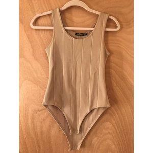 Boohoo Nude Bodysuit